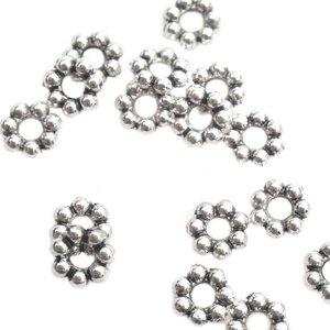 Zilver Kraal bali spacer Zilver 5x1mm - 20 stuks