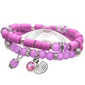 Paars DIY pakketje Summer discs Violet Purple - 2 armbanden