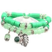 Groen DIY pakketje Summer discs Green - 2 armbanden