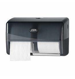 Europroducts pearle toiletpapier dispenser 2 rols voor normaal papier