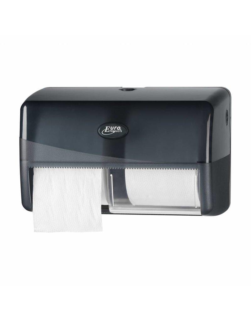 Europroducts pearle toiletpapier dispenser 2 rols voor normaal papier 431002