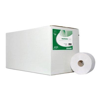 Europroducts Toiletpapier 2 laags ECO FSC Compact rol 100mtr x 24 rollen