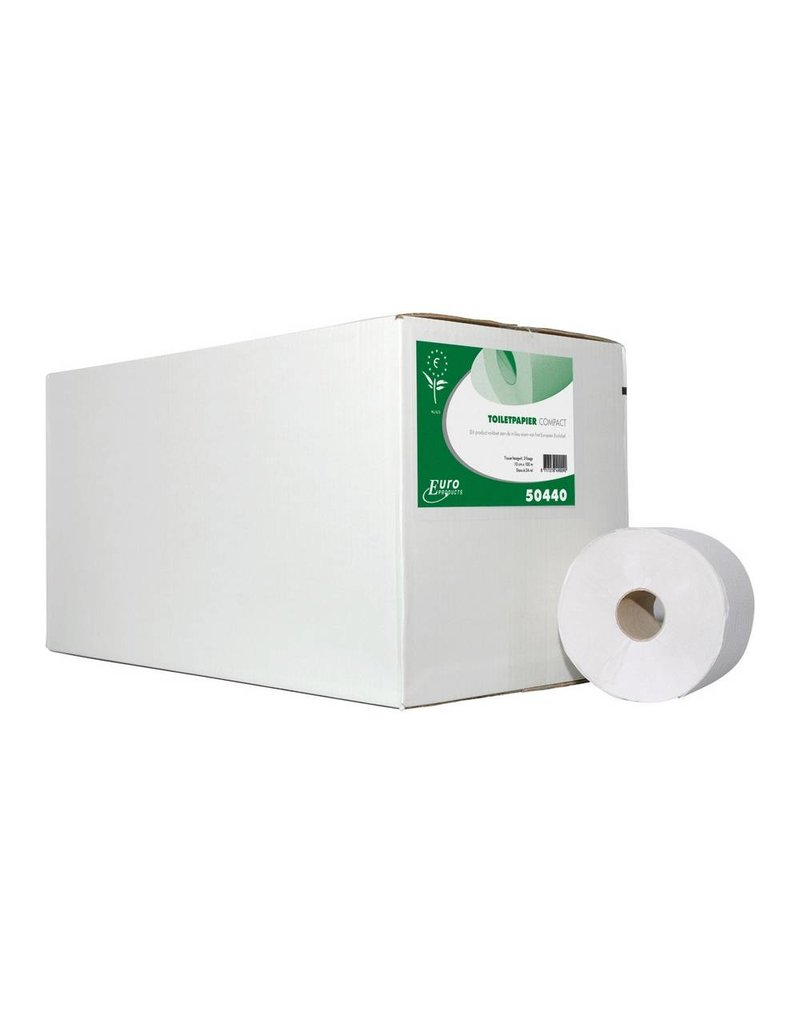 Europroducts Toiletpapier 2 laags ECO FSC Compact rol 100mtr x 24 rollen
