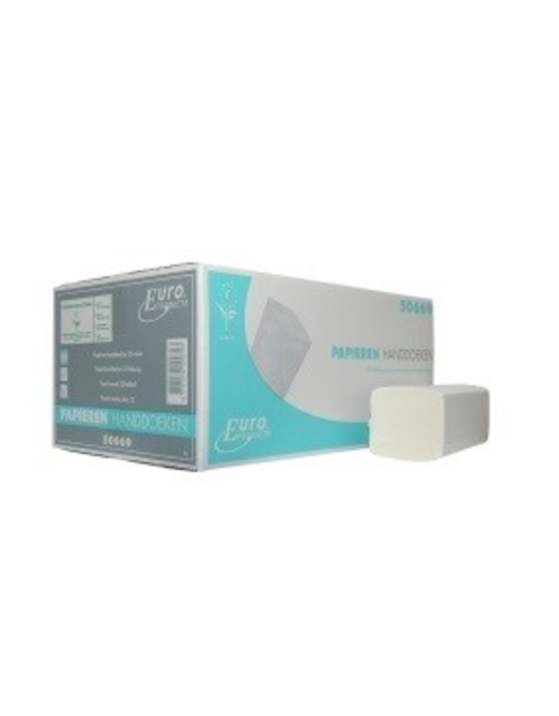 Europroducts Euro Z-vouw tissue wit 2 laags ECO label