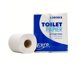 Europroducts Euro recycled 2 laags tissue toiletpapier standaard rol