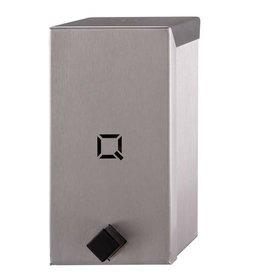 Qbic-line Handbediende RVS zeepdispenser vrij navulbaar 400 ml