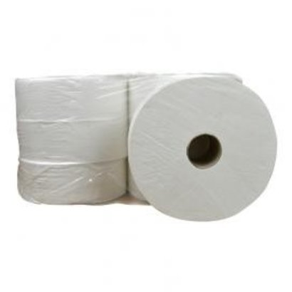 CleanFresh Toiletpapier Maxi Jumbo cellulose 2 laags 6 x 380 meter in folie
