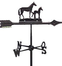 Windwijzer paard met veulen