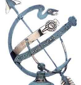 Zonnewijzer slang messing blauw Ø 27 cm