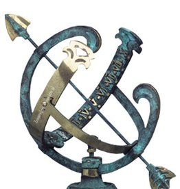 Zonnewijzer jupiter messing blauw Ø 22 cm