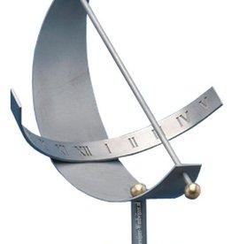 Zonnewijzer halve maan RVS Ø 40 cm