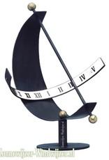 Zonnewijzer halve maan blauw metaal Ø 30 cm