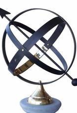 Zonnewijzer pijl zwart metaal Ø 38 cm