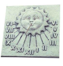 Zonnewijzer muur beton vierkant