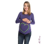 "Maternity Shirt - blue purple - ""Greenheart"""