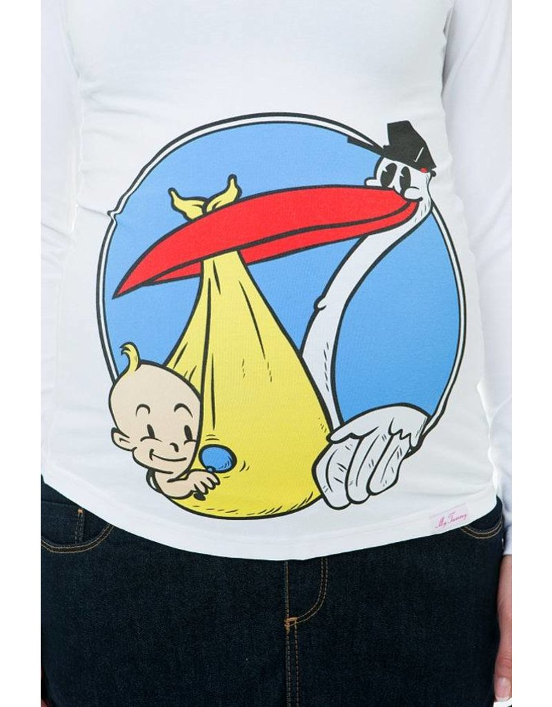 """Shirt de maternité - """"Stork"""" - Blanc"""