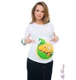 """Shirt de Maternité - Blanc """"Bee Leaf"""""""