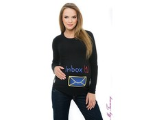 "Maternity shirt ""Inbox"" - black"