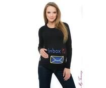 """Shirt de maternité """"Inbox"""" - Noir"""