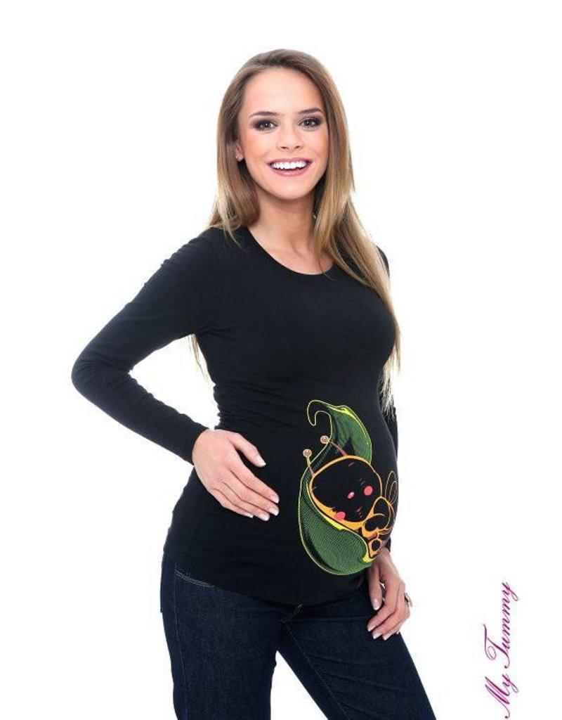 """Shirt de maternité """"Leaf Bee"""" - Noir"""