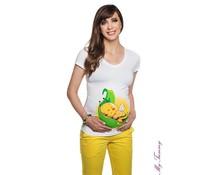 Shirt de maternité - Bee Leaf / blanc