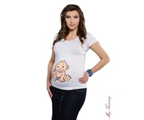 Maternity Shirt - Babyboy / white