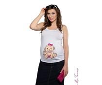 Top de maternité - Babygirl / Blanc
