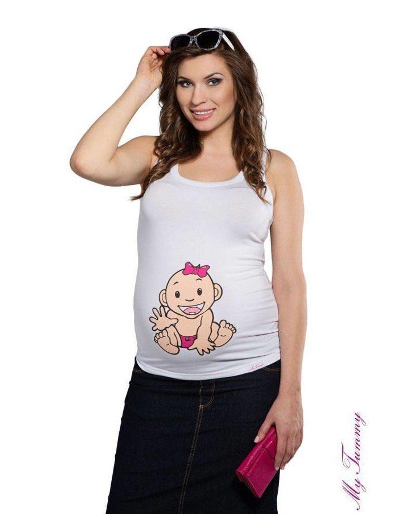 Top Pregnancy - Baby Girl / White