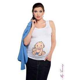 Top de maternité - Babyboy / blanc