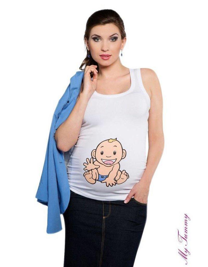 Maternity Top - Babyboy / white