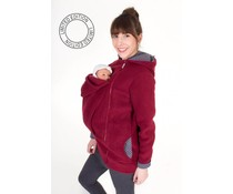 WearBaby - Pullover BASIC- Bordeaux / points gris