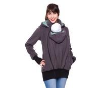 Teiko - Babyweearing jacket Fleece - Anthracit /Mint/Dots