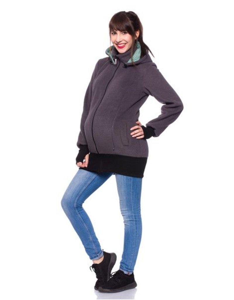 Teiko - Manteau de portage polaire - Anthracite/ Menthe