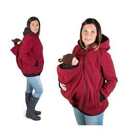KOALA 3in1 Manteau de portage avec portage au dos - Bordeaux / Noir