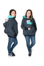 KOALA 3in1 Manteau de portage avec portage au dos - Graphite / teal