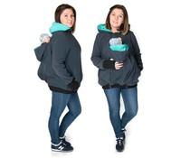 KOALA 3in1 babywearing jacket with backwearing function - Graphite / teal