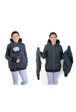 NEW LUNA 3in1 manteau de portage polaire - Graphite / noir