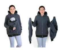 NEW LUNA 3in1 Fleece Babywearing jacket - Graphite / black