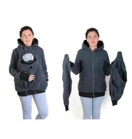 NEW LUNA 3in1 Fleece Babywearing jacket - Graphite / black