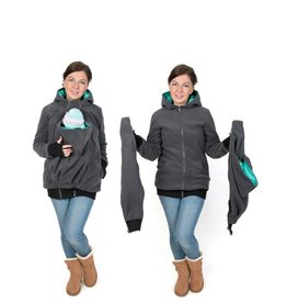 LUNA 3in1 Manteau de portage polaire - Graphite/teal