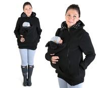 LITTLE BEAR Fleece babywearing jacket - black/dots