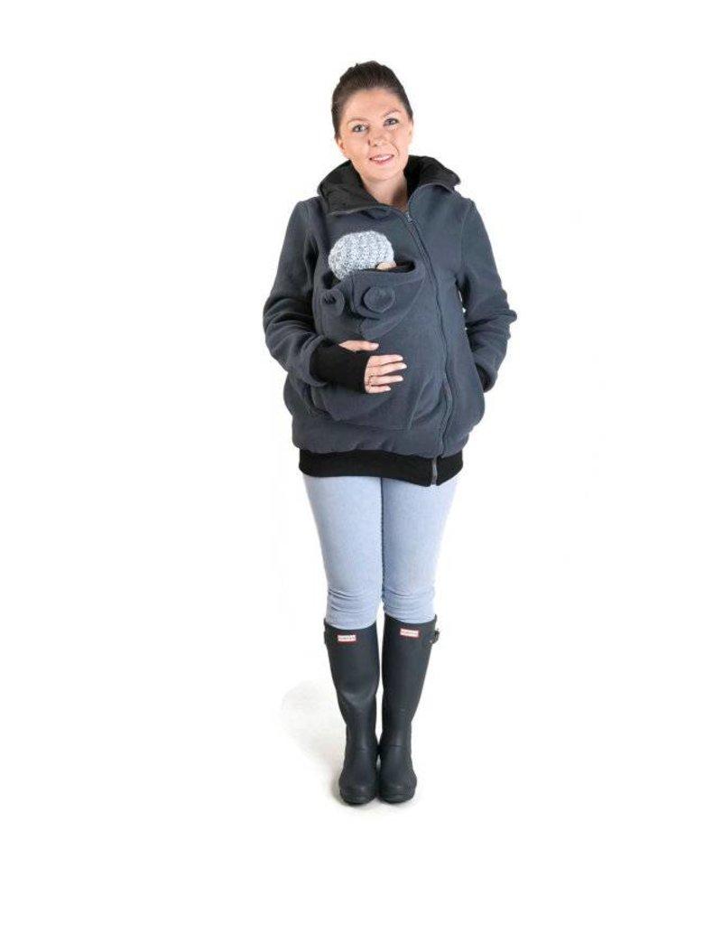 LITTLE BEAR Fleece babywearing vest - graphite/black