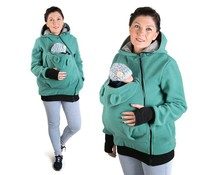LITTLE BEAR Fleece babywearing vest - Turquoise/grey