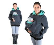 LITTLE BEAR Fleece babywearing vest - graphite/teal