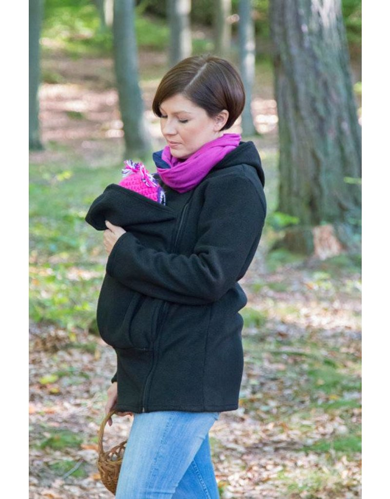 BASIC fleece babywearing jacket - Black