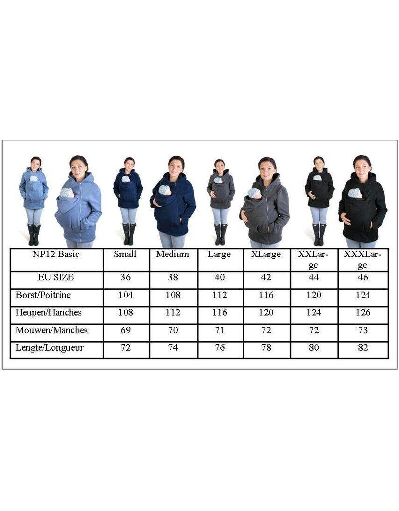 BASIC Fleece babywearing jacket - Navy