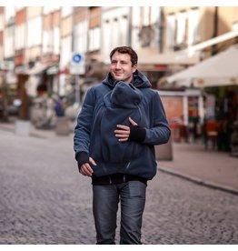 NEW LUNA for MEN - Manteau de portage polaire 3in1 - Graphite / Noir