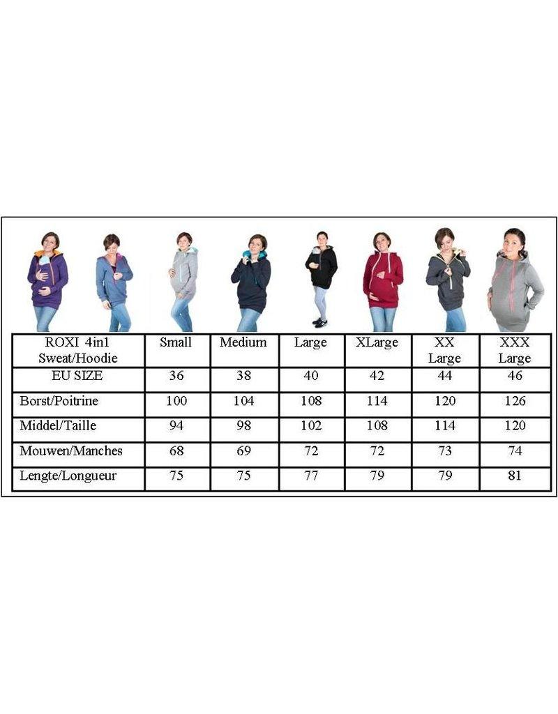ROXI 4in1 Sweater/hoodie Gris-roze