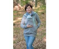 ROXI 4in1 sweater / hoodie Grey-mint
