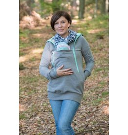 ROXI 4in1 sweater / hoodie Grey-mint